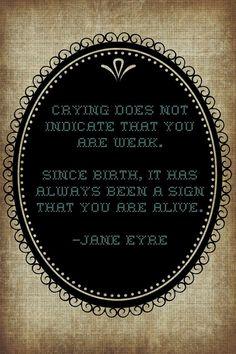 Crying Jane Eyre Quote by BoyfriendCosmetics on Etsy