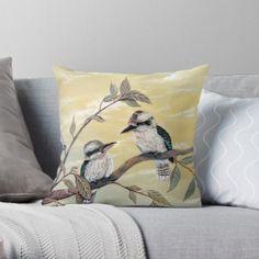 Kookaburra Magic Throw Pillow Case Personalized Pillow Cases, Custom Pillow Cases, Throw Pillow Cases, Custom Pillows, Pillow Covers, Throw Pillows, Old Pillows, How To Make Pillows, Vibrant