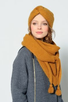 DIY Inspiration: Turban-Style Hat + Oversized Triangle Scarf with Tassel
