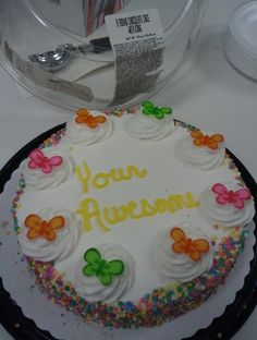 walmart cake fail... silly me for forgetting to spell both words for her