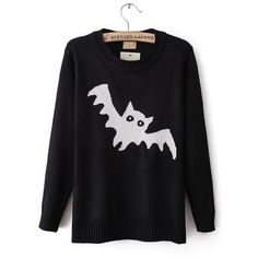 Round Neck Long-Sleeved Sweater Bat Pattern JCGC · MegaFashion · Online Store Powered by Storenvy Halloween Mode, Halloween Fashion, Halloween Outfits, Halloween Clothes, Halloween Queen, Happy Halloween, Dark Fashion, Gothic Fashion, Winter Fashion