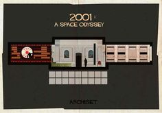 2001: A Space Odyssey (1968). | 17 Gorgeously Geeky Posters Of Classic Film Interiors