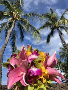 Tropical bright flower bouquet