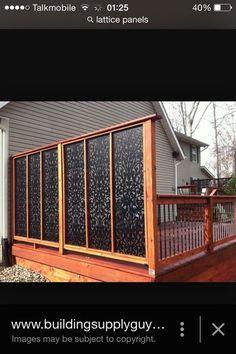 backyard privacy walls - Diy backyard privacy fence ideas on a budget Privacy Fence Designs, Privacy Screen Outdoor, Backyard Privacy, Backyard Patio, Backyard Landscaping, Garden Privacy, Porch Privacy, Backyard Ideas, Deck Privacy Screens