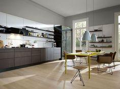 Konzentration auf Grau, Weiß und Schwarz in der Küche - Wandfarben in der Küche…