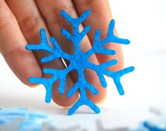 24 Die Cut Felt Christmas Snowflakes Value Pack | MariaPalito - Seasonal on ArtFire