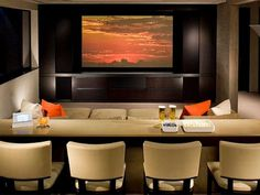Cool Home Theater With Modern Arm Chair Home Theater Living Room Prepossessing Living Room Home Theater Ideas Inspiration