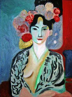 """Saatchi Online Artist Concha De Castro; Painting, """"Tribute to Matisse"""" #art #inspiredbymatisse"""
