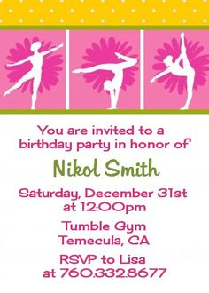 Image result for gymnastics birthday