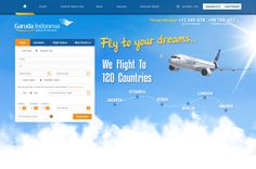 Airways Website Design | We Love Free PSD
