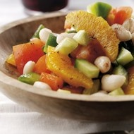 Orange and Bean Salad  A truly refreshing and light salad made with orange and beans