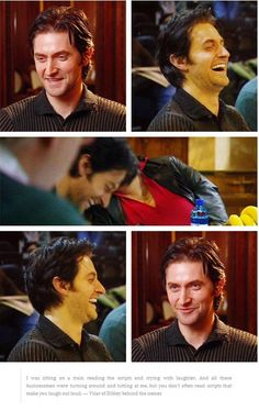 Richard Armitage laughing.... ok this just made my night. He said they laughed for 3-4 weeks preparing the show.  And I smile just watching.