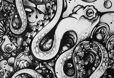One of my favorite artists Nanami Cowdroy Kraken, Octopus Art, Gcse Art, Nanami, Tentacle, Sliders, Amazing Art, Cool Art, Horror