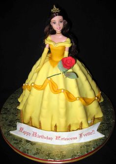 "Beauty without the Beast - Princess Belle, just one of those ""doll"" cakes"
