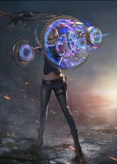 Chiron's Celestial String. Artifact: A bow comprised of an overlapping array of … – Cyberpunk Gallery Fantasy Character Design, Character Design Inspiration, Character Concept, Character Art, Dnd Characters, Fantasy Characters, Science Fiction, Weapon Concept Art, Cyberpunk 2077