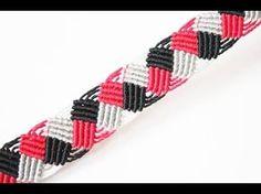Pulsera macrame / pulsera de hilo / macrame bracelet / tutorial / Thread bracelet - YouTube