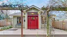 red entry door in home for sale in bellingham wa