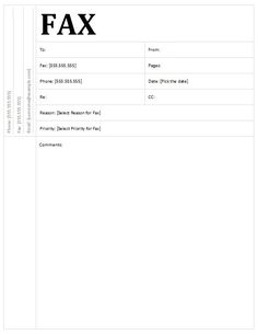 9 best Free Printable Fax Cover Sheet Templates images on Pinterest ...