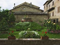 Well and Garden Courtyard, Buonconvento, Italy