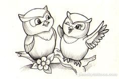 Cute Owl Tattoo Designs | ... Tattoos - Tattoos I Wanna Do - Peachy-cute-owl-tattoo-design