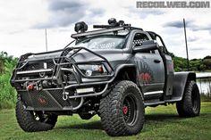 DID SOMEONE SAY ZOMBIE APOCALYPSE?? MEET THE 'BATTERING RAM'. Ram Trucks, Dodge Trucks, Jeep Truck, Diesel Trucks, Lifted Trucks, Cool Trucks, Pickup Trucks, Accessoires 4x4, Doge Ram