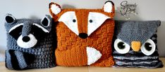 Woodland Friends Pillow Cover and Bag Crochet von BySincerelyPam