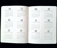 Bildergebnis für das bullet journal year auf einen Blick 2019 - New Ideas