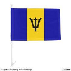 Flag of Barbados Car Flag