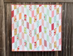 Made this quilt in less than a week. Super easy and doesn't use the whole jelly roll.