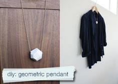 diy geometric pendant necklace