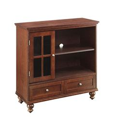 Kitchen Cabinets Ideas | Convenience Concepts Designs2Go Tahoe Highboy TV Stand Brown -- Read more reviews of the product by visiting the link on the image. Note:It is Affiliate Link to Amazon. #ModernKitchenCabinetsIdeas