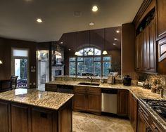 I like this kitchen, living room layout... for the next house?