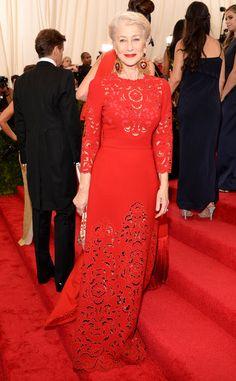Helen Mirren from 2015 Met Gala Arrivals | E! Online
