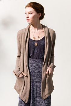 Stewart+Brown Store : daily blazer... If only i didn't already own 7,000 brown sweaters and cardigans
