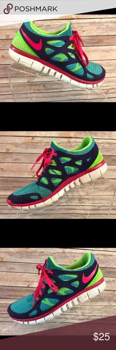 Details about Nike Free Run 2 443816 002 Womens 6.5 M Black Shoes Light Weight Running Sneaker