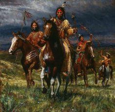 Lakota war party James Ayers kK