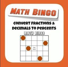 Common Core 6.NS.C.6.C Convert Fractions and Decimals to Percents Bingo from Mathematic Fanatic on TeachersNotebook.com -  (2 pages)  - How are kids supposed to get excited about converting fractions and decimals to percents? By playing Bingo, that's how!