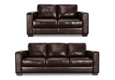 3 seater leather and leatherlux sofa - Dante - Gorgeous Living Room Furniture from Furniture Village
