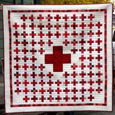 Red Cross Quilt   RunandsewQuilts's Weblog