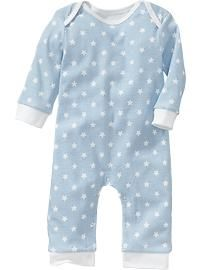 Printed Long-Sleeved One-Pieces for Baby
