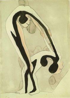 Акробаты, 1932. Ernst Kirchner (1880-1938)