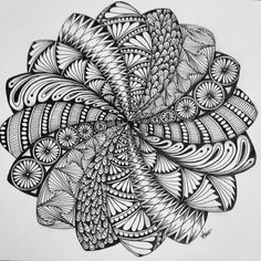 Spiraling mandala more mandalas zentangle, mandala art, doodle art. Mandala Art, Mandalas Painting, Mandalas Drawing, Mandala Pattern, Zentangle Patterns, Pattern Art, Zen Doodle Patterns, Doodle Borders, Doodles Zentangles