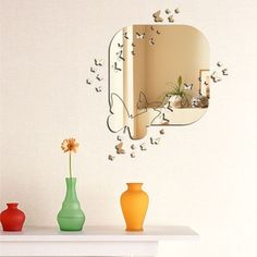 Dekoratívne zrkadlo Butterfly | Bonami