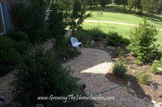 Growing The Home Garden: Gardening in the Home Landscape: A Sitting Garden in Summer  Side yard into back yard