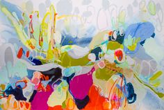 """""""Advice on Things"""" by Claire Desjardins. 48""""x72, acrylics on canvas."""