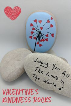 Kindness Rocks are always such a joy to find and to paint. A kindness rock might be just what someone needs this Valentine's Day! Paint your own Kindness Rocks with the Kindness Rocks Project Official Rock Painting Kit! Order from Inspire Kindness today. Rock Painting Patterns, Rock Painting Ideas Easy, Rock Painting Designs, Rock Painting Ideas For Kids, Pebble Painting, Pebble Art, Stone Painting, Pour Painting, Diy Painting