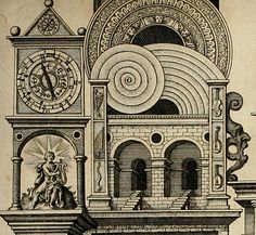 "Fludd's study concerns music, a subject which Merian and De Bry illustrate using a variety of graphic devices... like the ""Temples of Music"". Read more: http://www.johncoulthart.com/feuilleton/2014/04/18/robert-fludds-temples-of-music/"