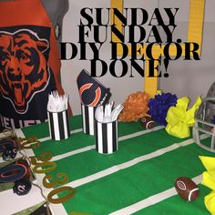 Make a game winning tailgate table for all your football fans!  From the grid iron to the deflated football bowls, flag on the play party bags and more,  DIYbyJane has great ideas for your next game time event.