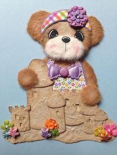 Summer Beach Sandcastle Girl Tear Bear Scrapbook Paper PCNG ELITE4U 3PAPERWISHES | eBay