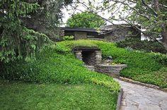 Herbert & Katherine Jacobs House II. Frank Lloyd Wright. 1946-8. Madison, Wisconsin. Usonian